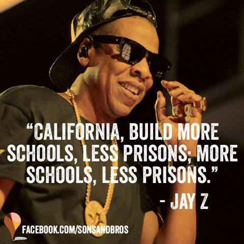 More schools less prisons