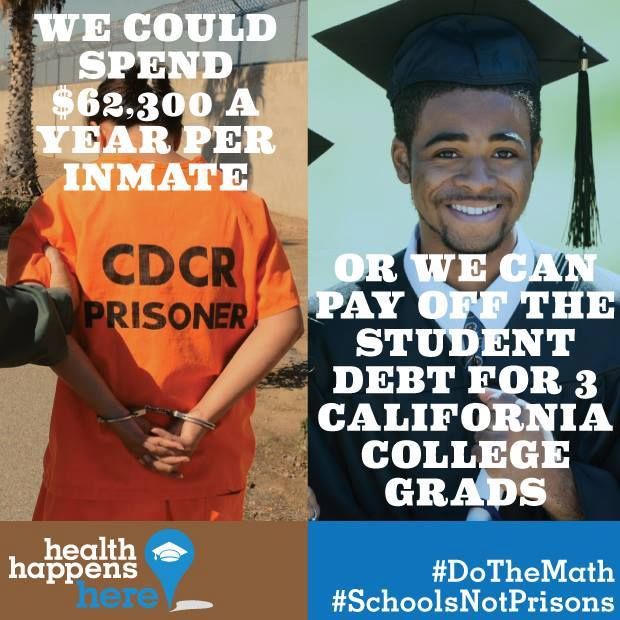 Do the Math! Schools not prisons!